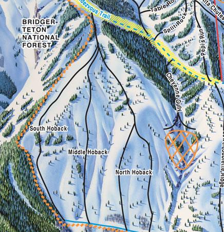 Jackson Hole Hobacks Map