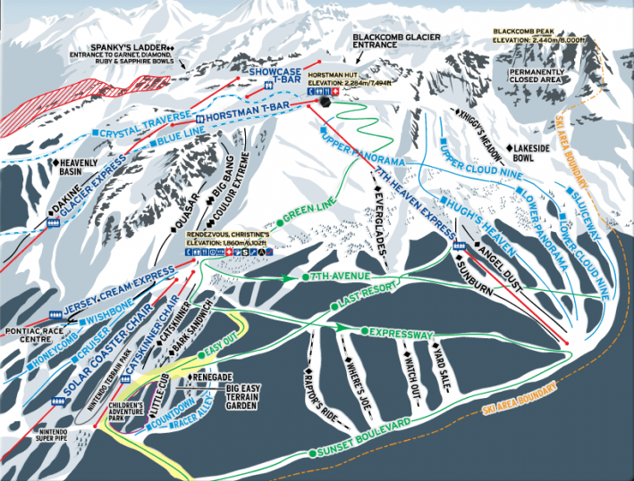 Whistler - 7th Heaven trail map